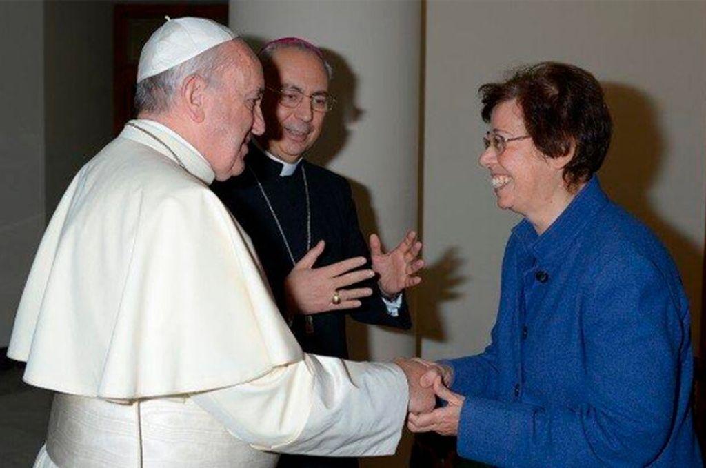 El papa Francisco con Francesca Di Giovanni Crédito: Archivo
