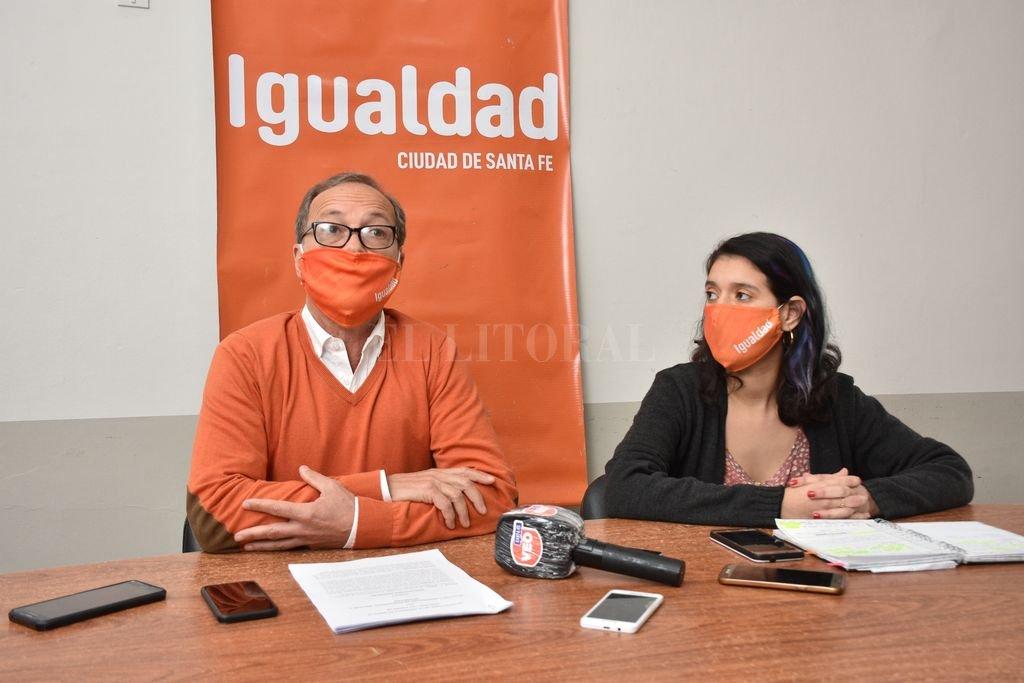 Antes de la sesión conjunta donde fue suspendido Ponce Asahad, Giustiniani y Donnet explicitaron el proyecto para cambiar el Consejo de la Magistratura. Crédito: Flavio Raina
