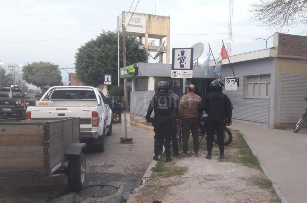 Los implicados fueron detenidos en Bulevar Pellegrini y San Jerónimo. Crédito: El Litoral