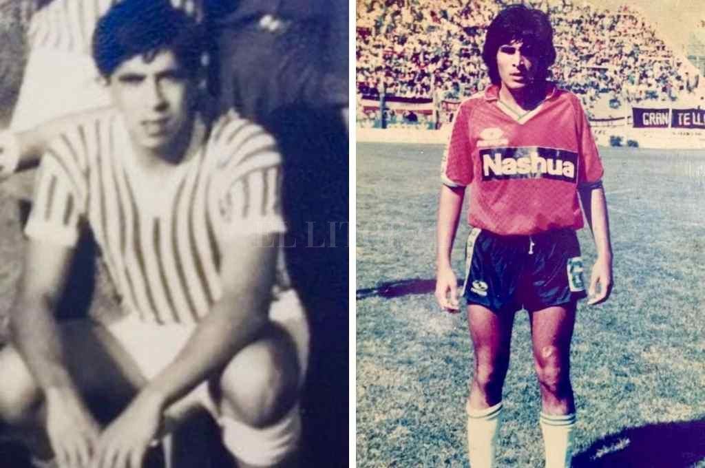 Pepe y José Sosa, en sus tiempos de futbolistas.    Crédito: Gentileza Liga Paivense