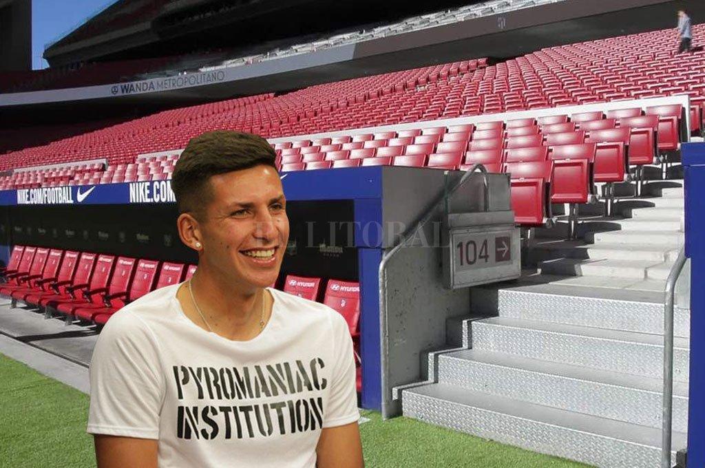 Sueños de fútbol. Mariano Gómez, jugador de Unión. Tiene la chance concreta de ir al Atlético de Madrid, que apostaría para su desarrollo en la Filial