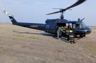 Quemas de pastizales: el Ejército arribó a Villa Ocampo -  -