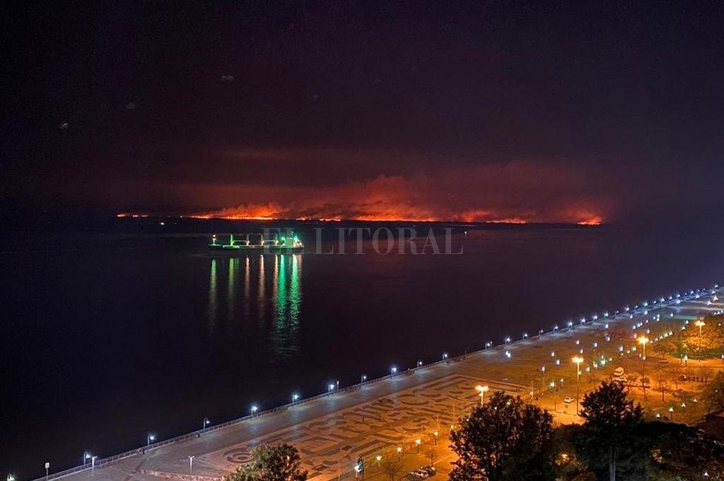 Incendio en las islas. Más de 5 meses de sequías eliminaron los arroyos y lagunitas que hacían de