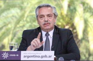 """Fernández sobre un posible retorno a la cuarentena estricta: """"El botón rojo siempre está a mano"""" - El presidente Alberto Fernández."""