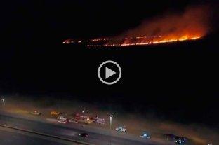 Video: la quema de pastizales también se registra en la provincia de Buenos Aires