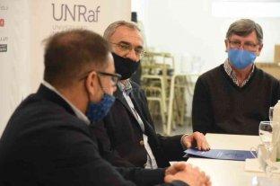 Calvo se reunió con autoridades de la UNRAF