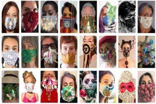 Una muestra reúne barbijos intervenidos por artistas de América, Europa, China y Japón