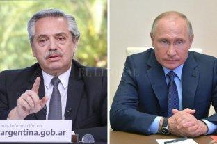 Alberto Fernández felicitó a Putin por el desarrollo de la vacuna contra el coronavirus