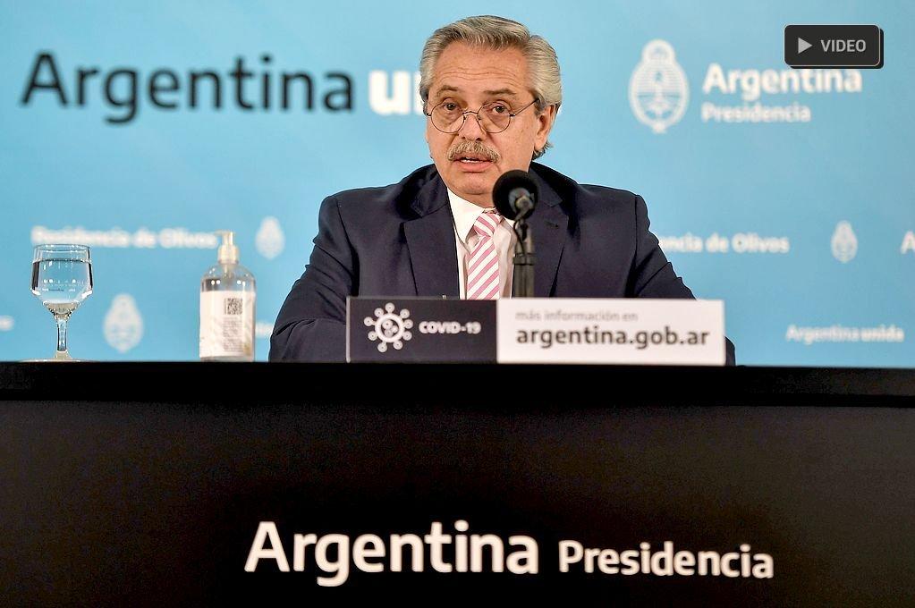 """Alberto Fernández: """"Hay 14 provincias que tienen circulación local de coronavirus"""" -  -"""