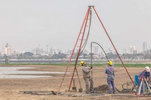 Realizaron nuevas perforaciones en el lecho de la Laguna Setúbal -  -