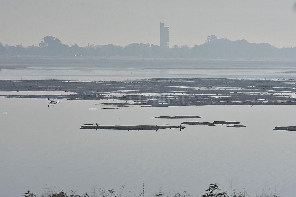¿Laguna? Setúbal. Es casi un río, con el Paraná por debajo del metro de altura. Crédito: Guillermo Di Salvatore
