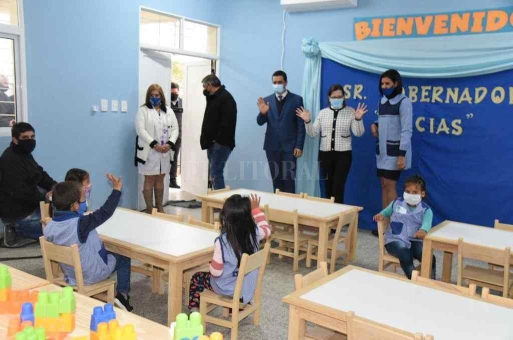 Con barbijo. La reapertura de los establecimientos educativos en Formosa abarcó a los distintos niveles, incluido el nivel inicial.     Crédito: Gentileza