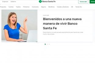 Banco Santa Fe presentó su nuevo sitio web totalmente renovado y multidispositivo