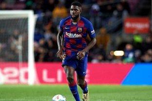 El defensor de Barcelona Samuel Umtiti dio positivo en coronavirus