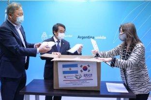 Corea donó 200 mil barbijos al país