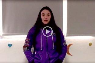 Julieta Del Pino, víctima de femicidio, en un video para generar conciencia contra la violencia de género - Julieta Del Pino. -