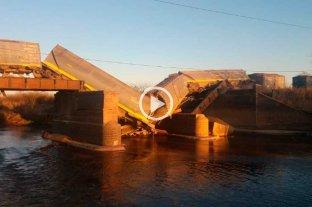Se derrumbó un puente mientras pasaba el tren en el sur de Santa Fe -