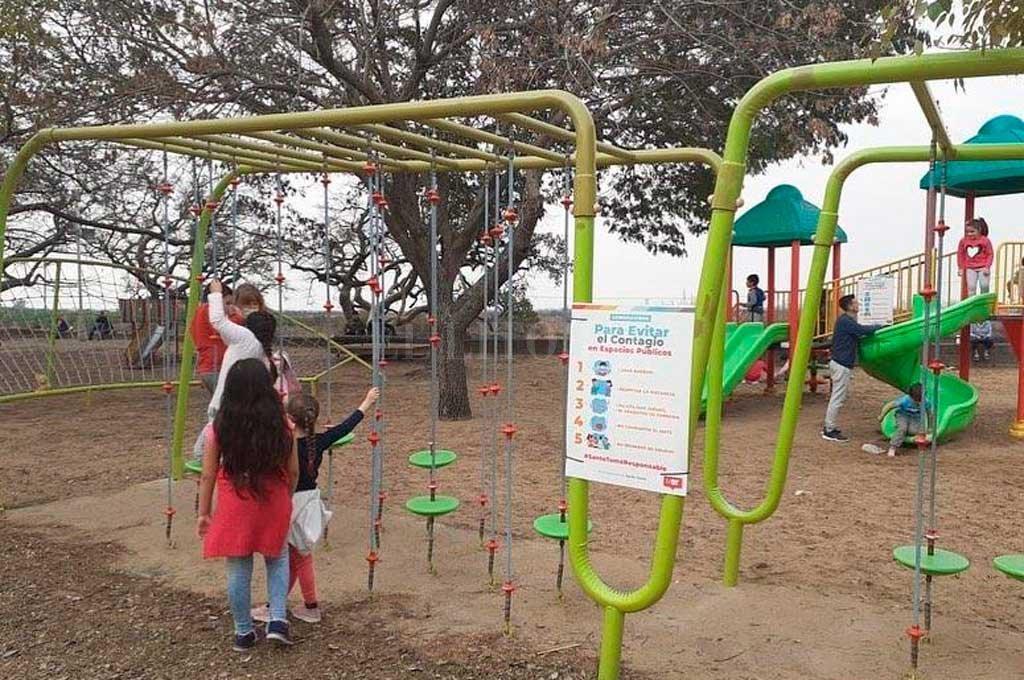 Conciencia social. Por el Día de la Niñez, piden a la población que no concurra masivamente a los espacios públicos ni usen los juegos. Crédito: Gentileza