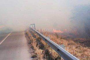 """El fuego ardió en inmediaciones al Túnel  y complicó la circulación durante el """"finde"""""""