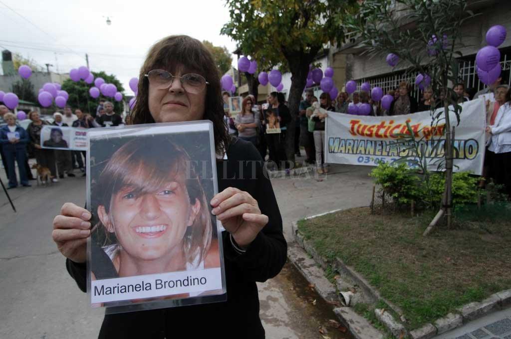 La incansable lucha de la Graciela, la madre de Marianela Brondino. Fue una pieza clave para llegar a los culpables del crimen Crédito: Archivo El Litoral
