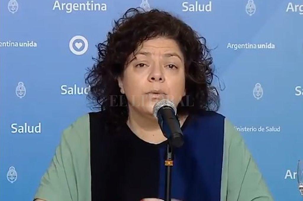 Carla Vizzotti, ministra de Salud. Crédito: Archivo