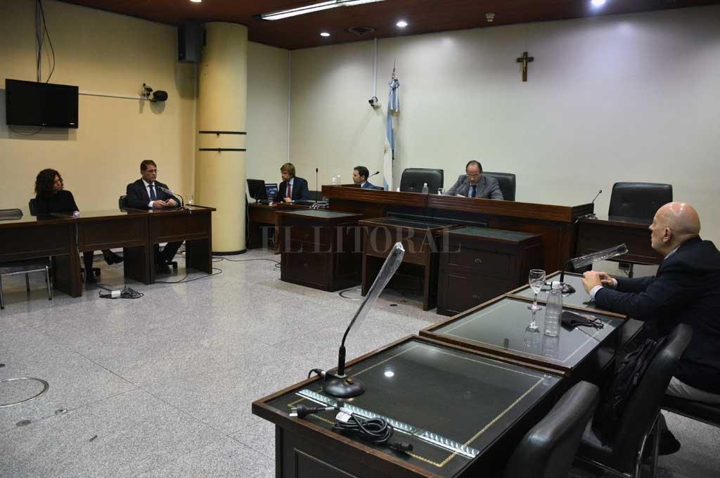 El juez Luciano Lauría condenó a Santiago Iván Schefer Salas (32), en un juicio realizado este jueves en el TOF local. Crédito: Guillermo Di Salvatore