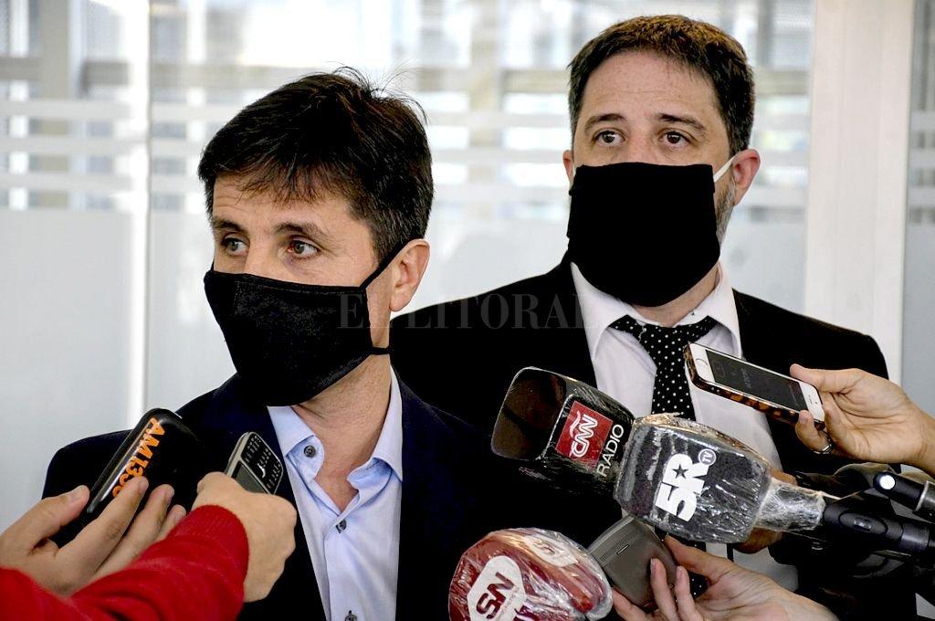 Fiscales Matías Edery y Luis Sciappa Pietra. Crédito: Marcelo Manera