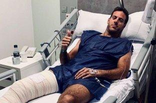 Del Potro recibió el alta médica para el inicio de la rehabilitación en la rodilla derecha