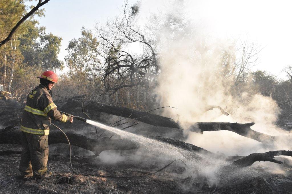 Las intervenciones de los bomberos para apagar incendios son diarias y desgastantes. Crédito: Manuel Fabatía