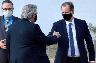 Bordet, con coronavirus, guardó distancia del presidente y de otros gobernadores