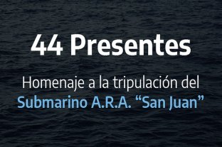 """44 presentes"": Defensa lanzó una web de homenaje permanente a los tripulantes del ARA San Juan"