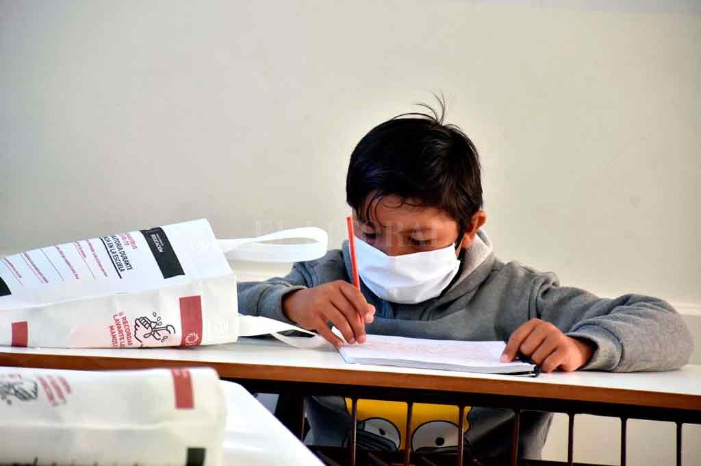 Cerca de 10.500 alumnos de 14 de los 19 departamentos de San Juan regresaron a clases presenciales en esa provincia, en medio de la cuarentena por el coronavirus. El registro gráfico es de 11 de agosto. Crédito: Archivo.