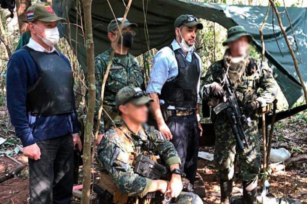 Efectivos del ejército paraguayo luego de desbaratar el campamento del EPP. Crédito: Gentileza Infobae