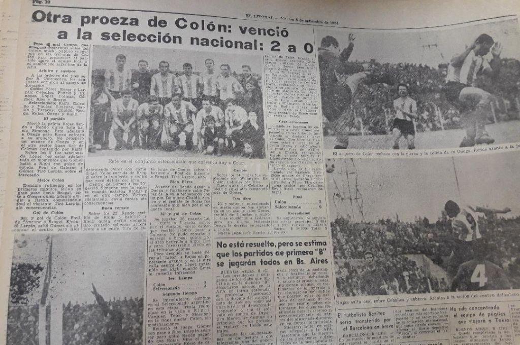 La cobertura de El Litoral en esa tarde nublada de 1964, un año inolvidable para la historia sabalera. Crédito: El Litoral