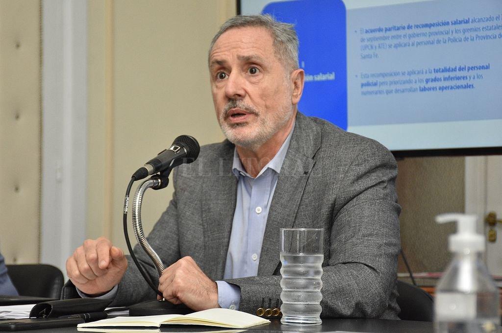 Marcelo Sain, ministro de Seguridad de la provincia. Crédito: Manuel Fabatia