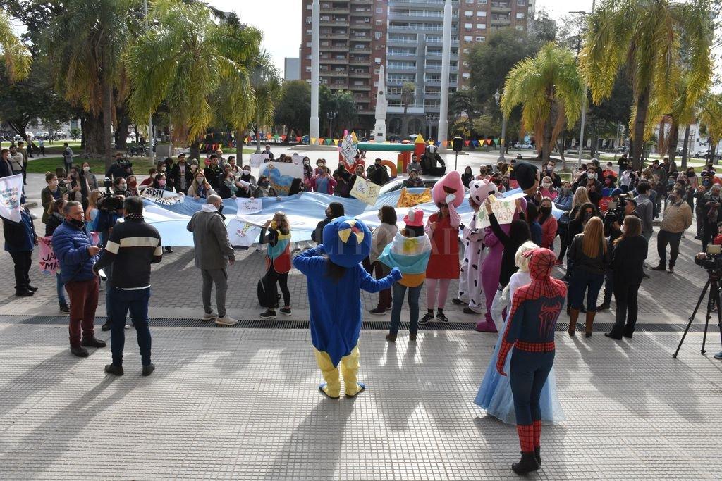 El 10 de junio, hubo una manifestación del sector frente a Casa de Gobierno. Crédito: Guillermo Di Salvatore