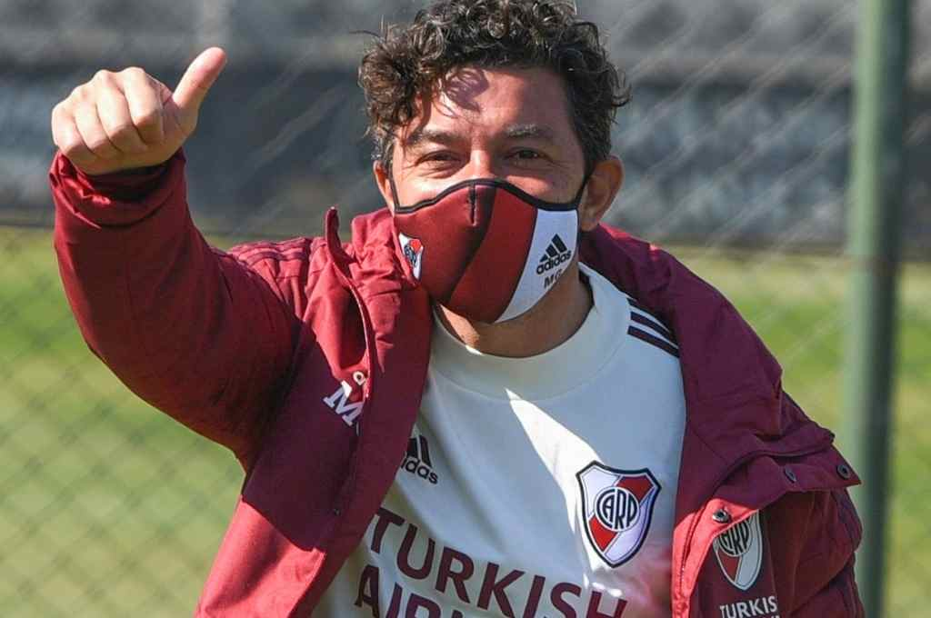 Gallardo tiene en mente presentar equipos distintos ante San Pablo y Binacional.   Crédito: Archivo