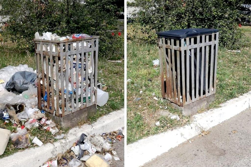 Antes y después. Crédito: El Litoral
