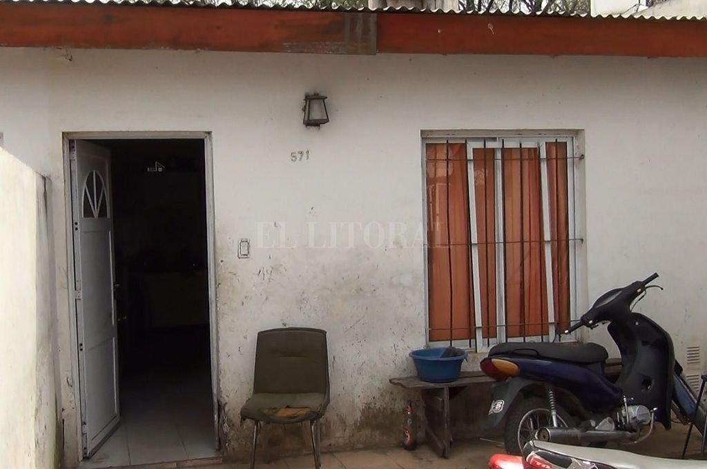 Casa de Facundo, el lugar donde el joven recibió el disparo. Crédito: Gentileza