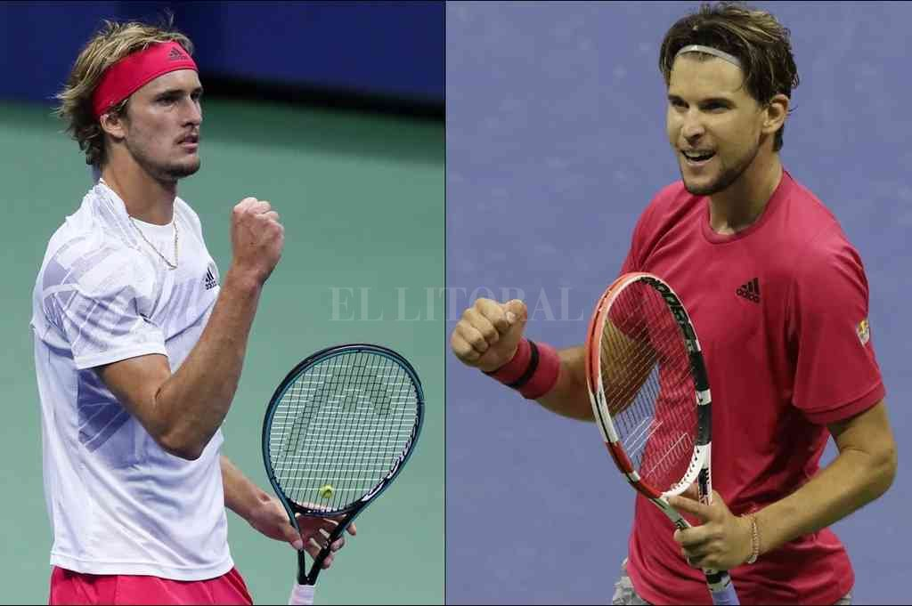 Entre Zverev y Thiem estará el sucesor de Rafael Nadal en el trono del US Open. Crédito: Archivo