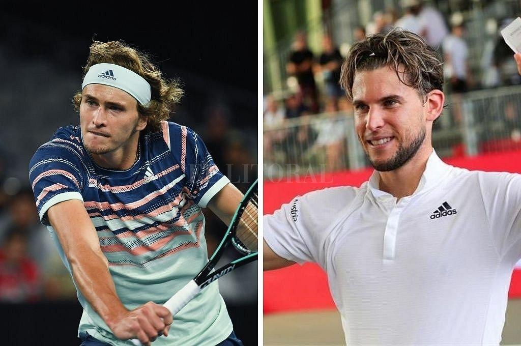 Los finalistas Alexander Zverev y Dominic Thiem. Crédito: Archivo El Litoral