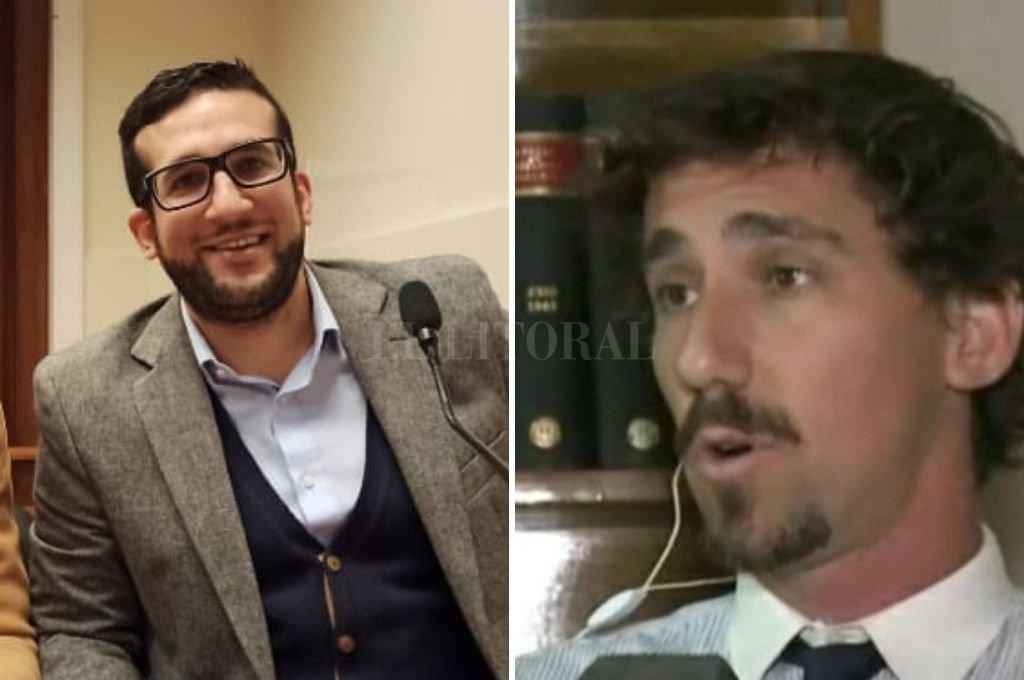 Los abogados Ignacio Alfonso Garrone y Hernán Guala, impulsores de la denuncia y asesores legales de la inmobiliaria Benuzzi. Crédito: Gentileza
