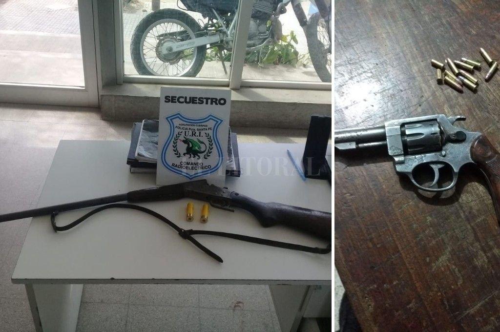 Algunas de las armas secuestradas en los distintos operativos Crédito: El Litoral
