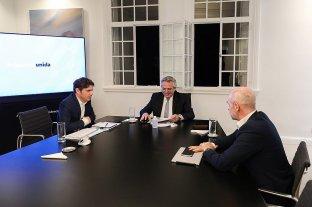 """Alberto Fernández, Kicillof y Rodríguez Larreta se reunieron y acordaron """"pequeñas flexibilizaciones"""" -  -"""