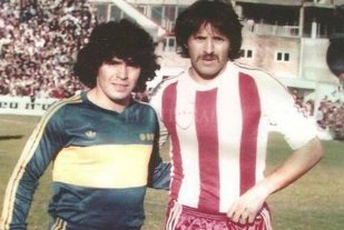 El récord nacional de Unión de hace 45 años - Luque con Maradona, en el año 1981 -
