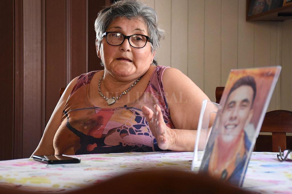Azucena, mamá de Maxi Olmos. Crédito: Pablo Aguirre