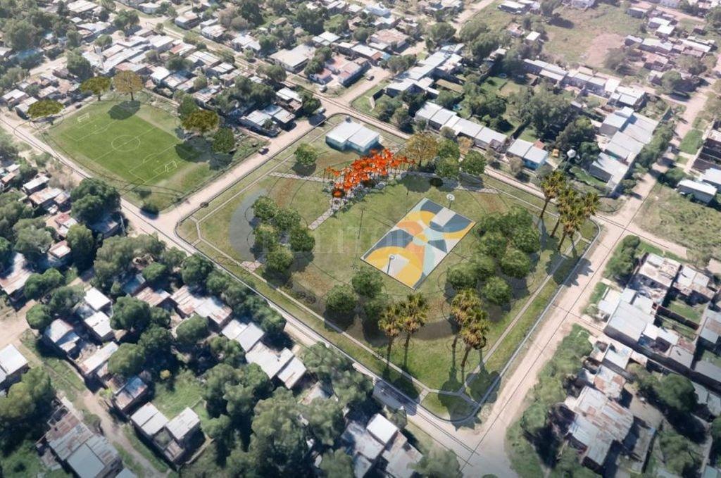 La imagen ilustrativa muestra el proyecto de la plaza y las novedosas