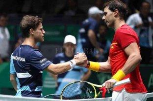Diego Schwartzman juega ante Rafael Nadal
