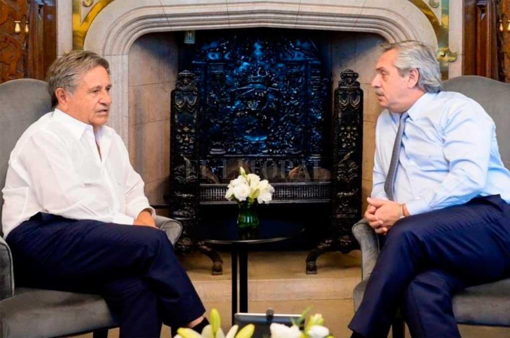 El ex presidente se ha reunido en varias oportunidades con Fernández Crédito: Archivo El Litoral