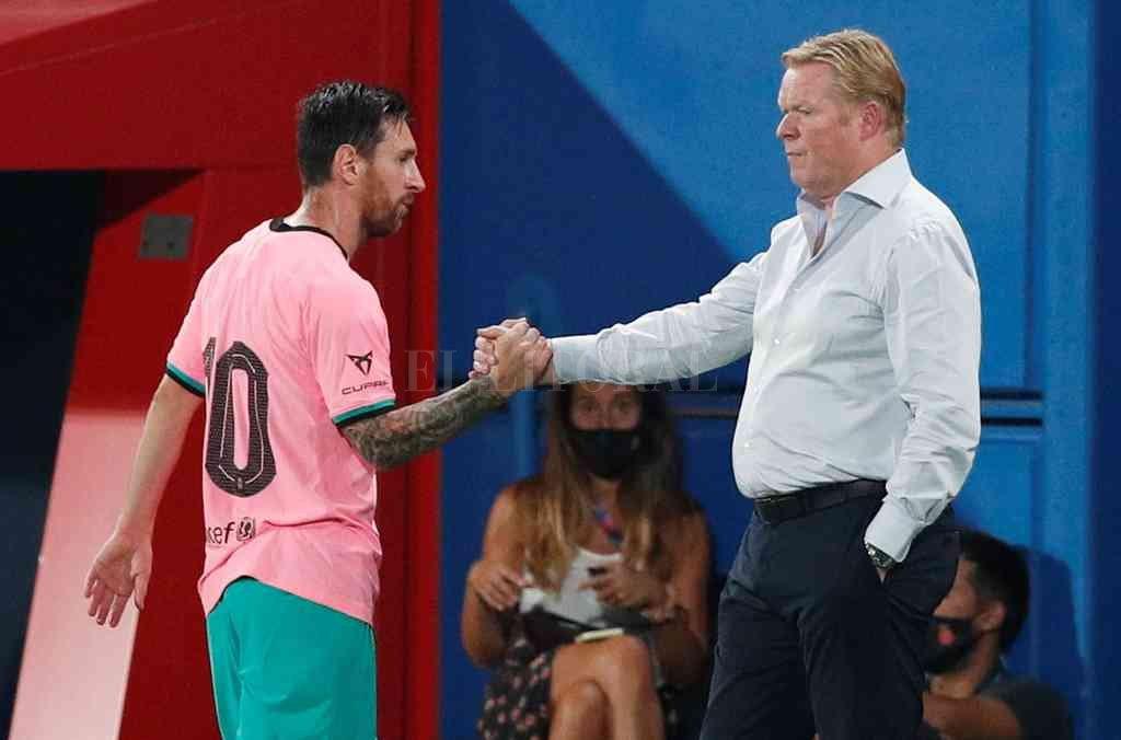 La gran pregunta es cómo será la relación entre el nuevo DT Koeman y Messi. Crédito: Archivo